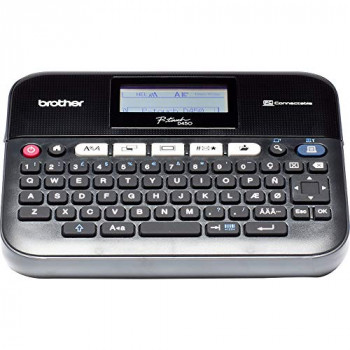 Brother PT-D450VP Label Maker, USB 2.0, P-Touch Label Printer, Desktop, QWERTY Keyboard, Up to 18mm Labels, Includes Carry Case/AC Adapter/USB Cable/18mm Black on White Tape Cassette