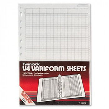 Rexel Twinlock Variform V4 Cash Refill Sheets 5 Columns (Pack of 75)