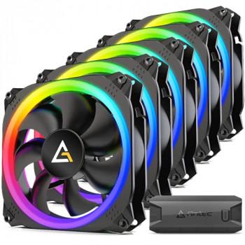 Antec Prizm 120 ARGB 5+C 120mm Case Fan w/Fan Controller 5 in1 Pack