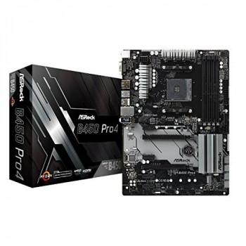 Asrock B450 PRO4 AMD B450 AM4 ATX 4 DDR4 XFire VGA HDMI DP M.2