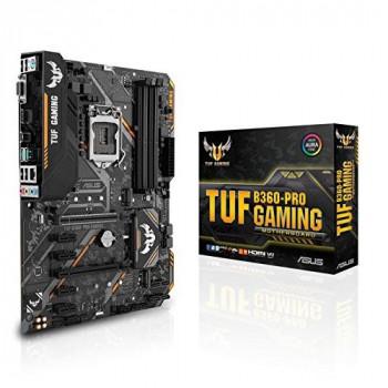 Asus TUF B360-PRO GAMING Intel B360 1151 ATX DDR4 VGA HDMI XFire Dual M.2 RGB Lighting 5 Year Warranty