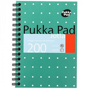 pukka pads JM036 - Pukka Pad A6 Jotta Pad Wire Ruled 200 Page Metallic JM036 - (PK3)