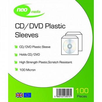 Neo Media 100 m Plastic Sleeves (Pack of 100)