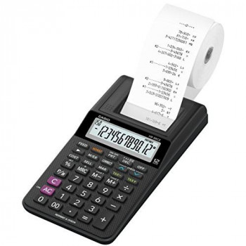 Casio HR-8RCE-BK-W-EC HR-8RCE 12-Digit Mini Printing Calculator Black :: (Office & Stationery > Calculators)