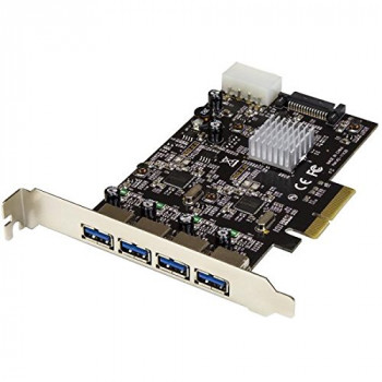 StarTech.com 4-Port USB 3.1 (10Gbps) Card - 4x USB-A with Two Dedicated Channels - PCIe