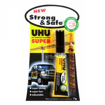 UHU 39722 All Purpose Strong and Safe - 7g Tube Pack of 12