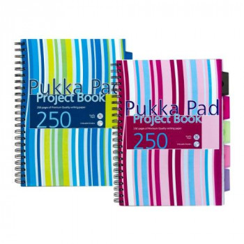 Pukka Project Book A4 Wire 250 pages Assorted Pack of 3 - PROBA4