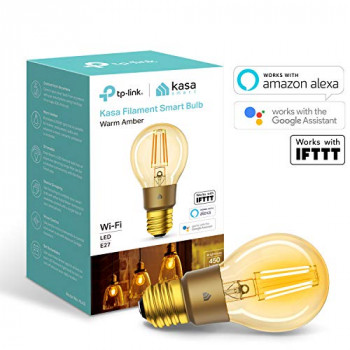 TP-Link Smart Bulb,  WiFi Filament Light Bulb, E27, 5W, Works with Amazon Alexa (Echo and Echo Dot), Google Home and IFTTT, Dimmable Warm Amber, No Hub Required [Energy Class A+]