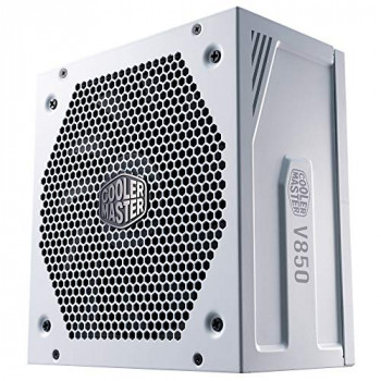 Cooler Master V850 Gold V2 PSU, UK Plug - 850 W, 80 PLUS Gold, Fully Modular, ATX Power Supply Unit, Quiet 135 mm FDB Fan, Semi-Fanless Mode, 10-Year Warranty, 16AWG PCI-e Cables - White Edition