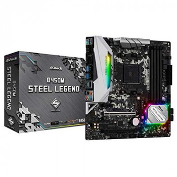 Asrock B450M STEEL LEGEND AMD B450 AM4 Micro ATX 4 DDR4 HDMI DP XFire Rock-Solid Durability