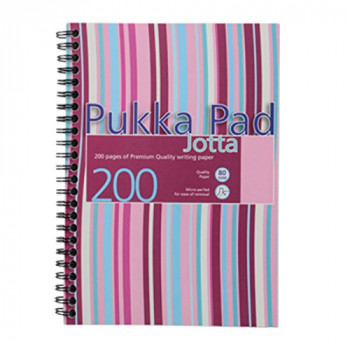 Pukka Pad Jotta Notebook Wirebound Ruled 200pp 80gsm A5 Assorted Ref JP021 3/4 [Pack of 3]