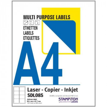 A4 labels - Multipurpose (SDL08S)