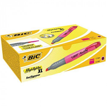 BIC Highlighters XL Fluorescent Pink 10 Box
