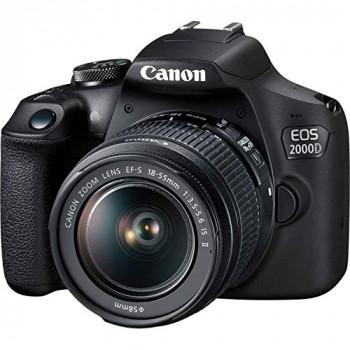 Canon EOS 2000D (24.1MP) Digital SLR Camera 3.0 inch LCD (Black) with 2 x Lenses (EF-S 18-55mm IS STM II Lens and EF 50mm f/1.8 STM Lens)