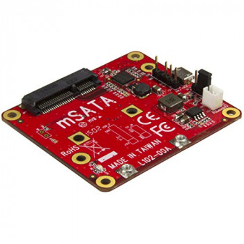 StarTech.com PIB2MS1 USB to mSATA Converter for Raspberry Pi and Development Boards - Red