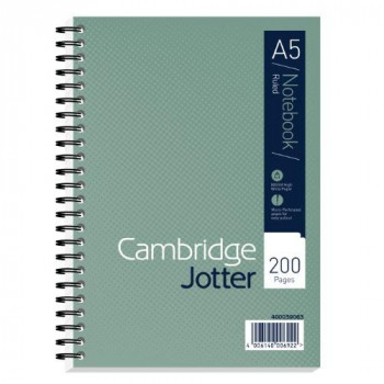 Cambridge A5 Jotter - Green (Pack of 3)