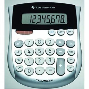 Texas Instruments Taschenrechner TI-1795 SV silver Display (Stellen): 8solarbetrieben, batteriebetri