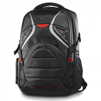 Targus Strike Backpack for 17.3-Inch Gaming Laptop - Black/Red