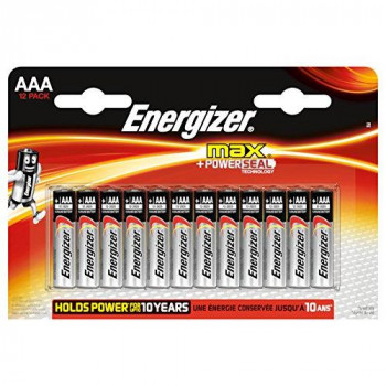 Energizer Max Alkaline AAA, 12 Pack