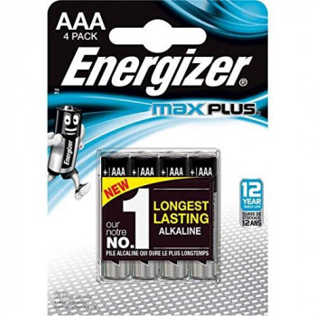 Energizer AAA Max Plus (LR03) Alkaline Batteries. 1.5V - Pack of 4