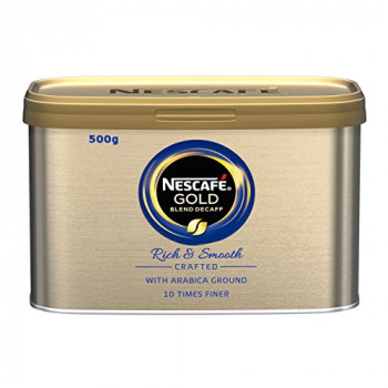 NESCAFE GOLD Blend Instant Decaffeinated Coffee Tin, 500 g
