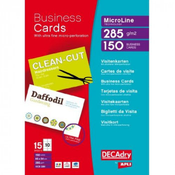 Decadry 285gsm Microline Business Cards - Bright White