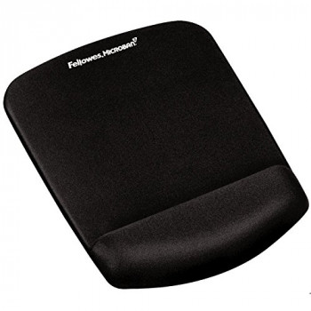 Fellowes 9252003 PlushTouch Mousepad Wrist Support with Microban - Black