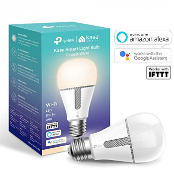Kasa Smart WiFi Light Bulb by TP-Link, E27/B22, 10W, Works with Amazon Alexa (Echo and Echo Dot), Google Home and IFTTT, All Shades of White, Dimmable, No Hub Required [Energy Class A+]