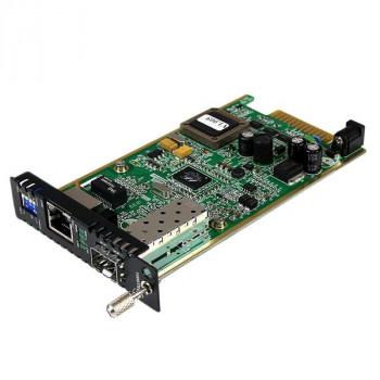 StarTech.com Gigabit Ethernet Fiber Media Converter Card Module w/ Open SFP Slot - Fiber to Ethernet Converter Card