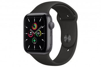 Apple Watch SE, 44mm, GPS 2020 - Space Grey Aluminium Case with Black Sport Band