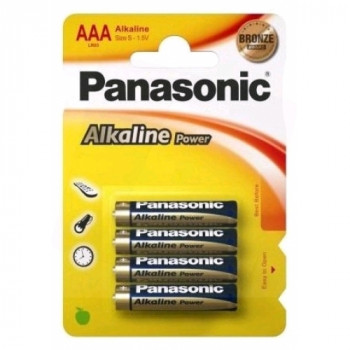 AA Panasonic Bronze Batteries PK4
