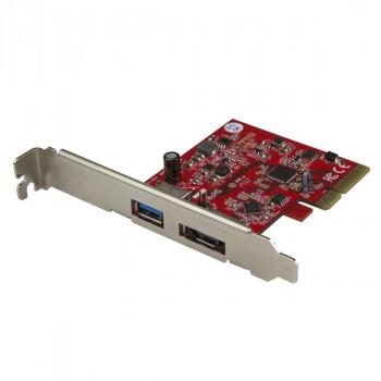 StarTech.com 2 Port USB 3.1 (10Gbps) + eSATA PCI Express Card - 1x USB-A + 1x eSATA - USB 3.1 PCIe Card & eSATA Card