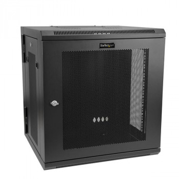 StarTech.com Wall Mount Server Rack Cabinet - Hinged Enclosure - Wall Mount Network Cabinet - Up to 17 in. Deep - 12U
