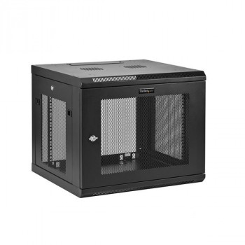 StarTech.com 9U Wall Mount Server Rack Cabinet - Wall Mount Network Cabinet - Up to 18.9 in. Deep