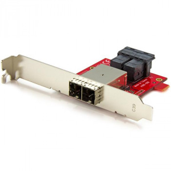 StarTech.com Mini-SAS Adapter - Dual SFF-8643 to SFF-8644 - with Full and Low-Profile Brackets - 12Gbps