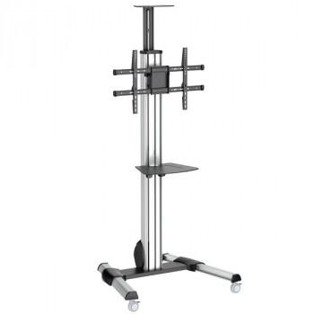 "StarTech.com TV Cart - For 32"" to 75"" Displays - AV Cart - Height Adjustable, Lockable Wheels - Flat Screen TV Cart - Media Cart"