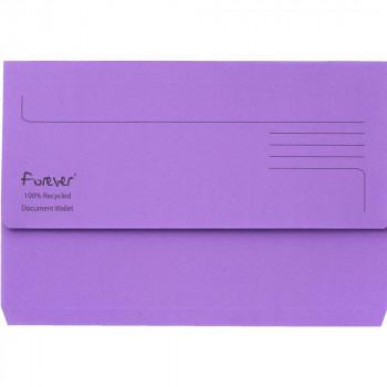 Exacompta 211/5005Z Guildhall Foolscap Bright Manila Wallet - Purple (pk25)