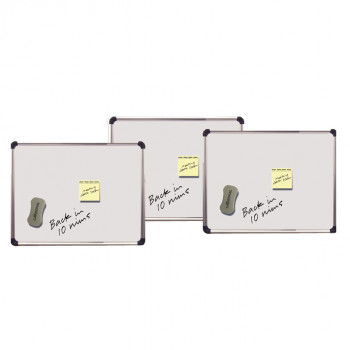 Cathedral WALWB2843SL 280 x 430 mm Magnetic Dry Wipe Board with Frame - Silver/Grey